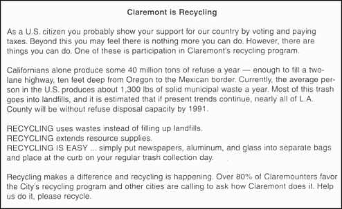 Speech on recycling