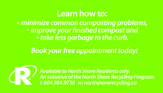 Back of North Shore compost coaching promotion card
