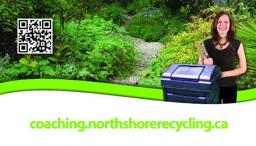 Front of North Shore compost coaching promo card