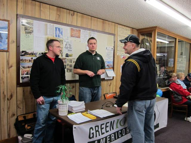 Energy conservation community table at fish fry