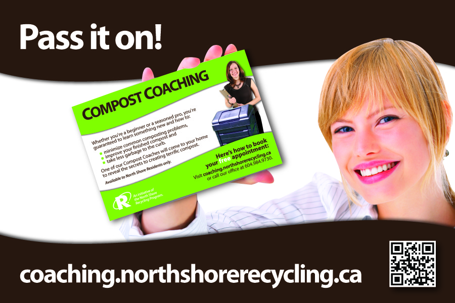 recycling coaching card to build word of mouth promotion