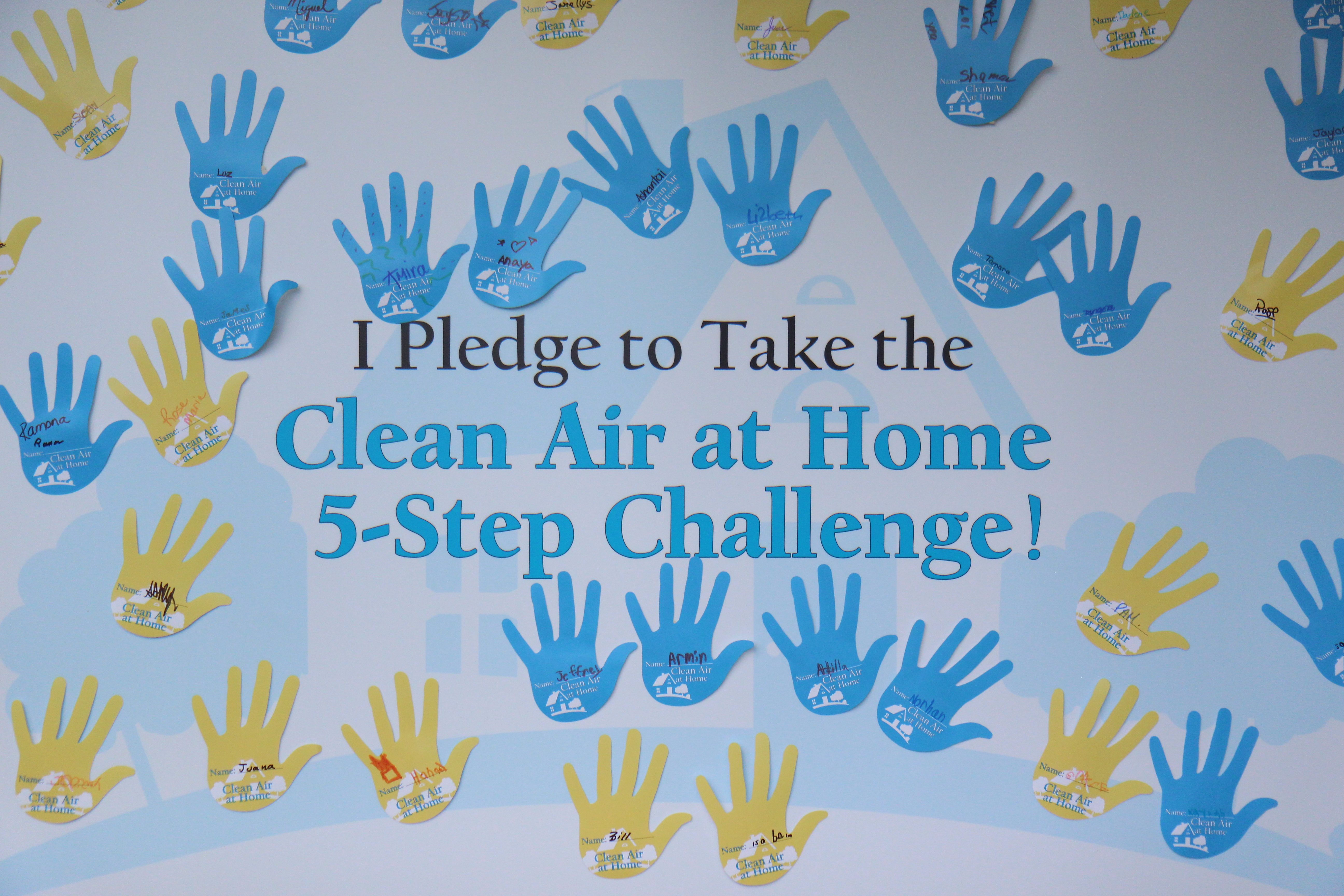 Clean Air at Home Pledge Board (IAQ / IEQ)