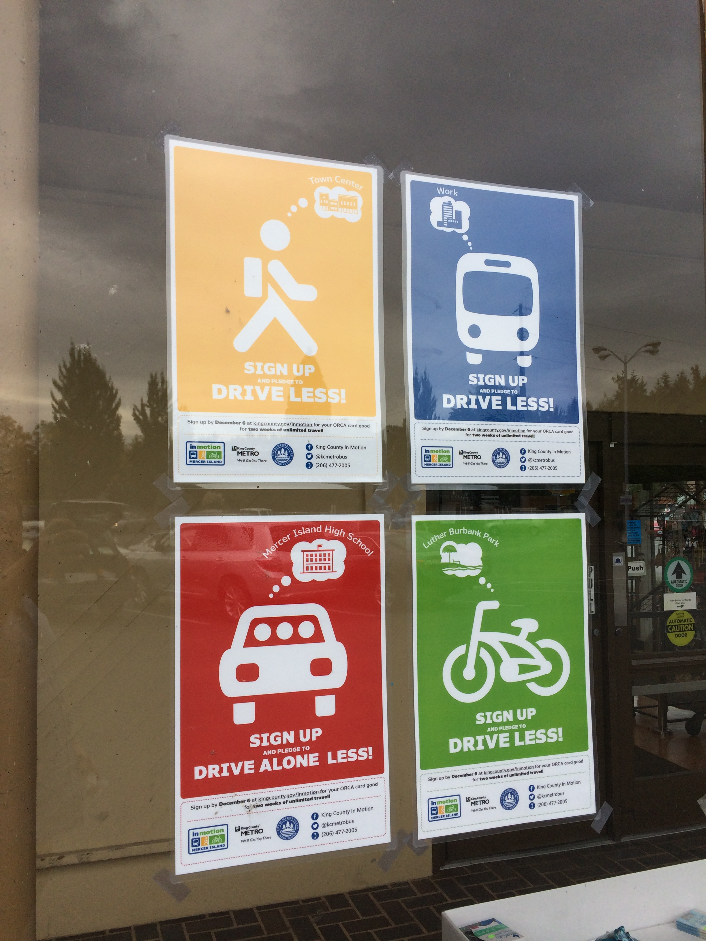 Posters for In Motion transportation cbsm program