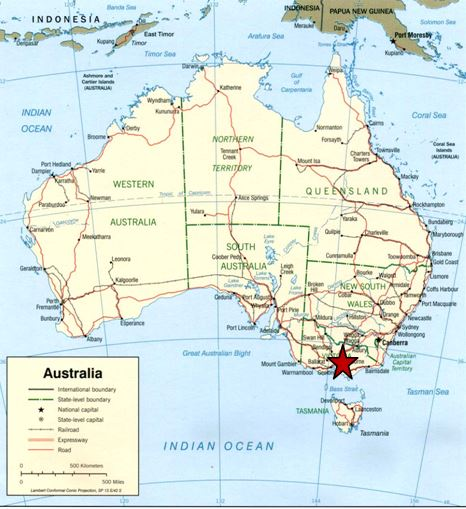 Location of Drama Downunder STI / HIV / AIDS campaign